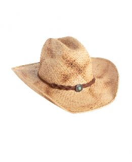 Natural Straw Cowboy Hat with Braided Band