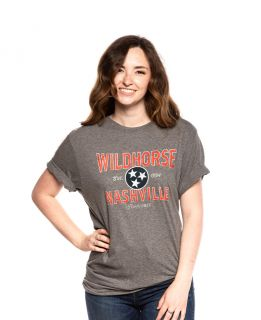 Wildhorse Grey Tennessee Tri-Star Tee
