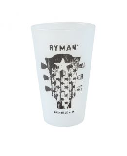 Ryman 160z Guitar Head Frosted Silicone Pint Glass