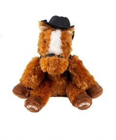 Wildhorse With Black Vest And Hat Plush
