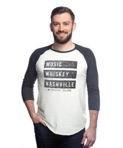 Wildhorse Saloon Music Whiskey Nashville Raglan