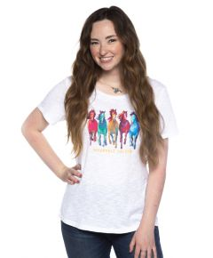Wildhorse Colorful Horses Tee