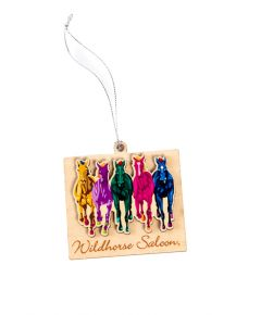 Wildhorse Colorful Horses Wooden Ornament