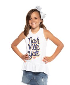 Wildhorse Youth Nash Yall Ruffle Tank